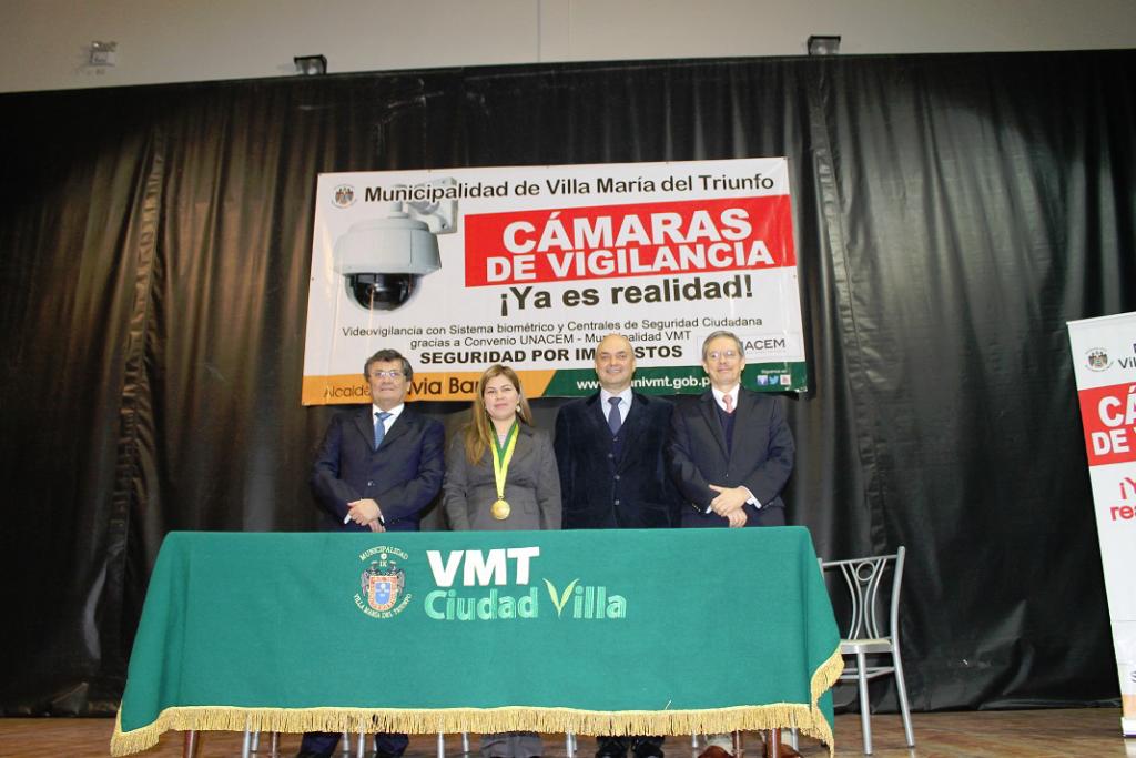 UNACEM y Villa María del Triunfo juntos por la seguridad ciudadana