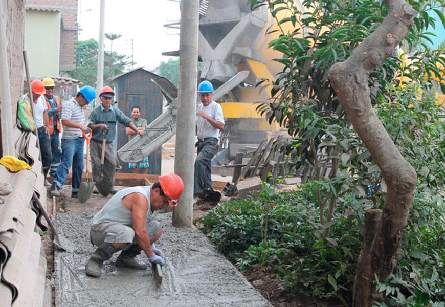 Con esfuerzo de vecinos y apoyo de Asociación UNACEM se construyeron veredas en Tablada de Lurín, Villa María del Triunfo