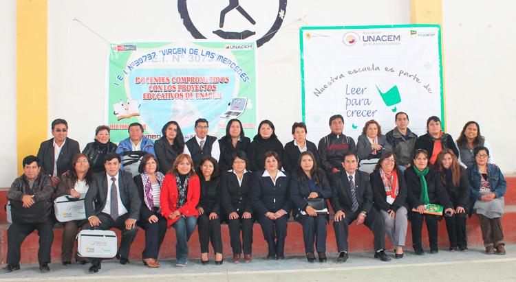 Asociación UNACEM, Empresarios por la Educación, la Universidad Peruana Cayetano Heredia y las Instituciones Educativas muestran los proyectos a las comunidades.