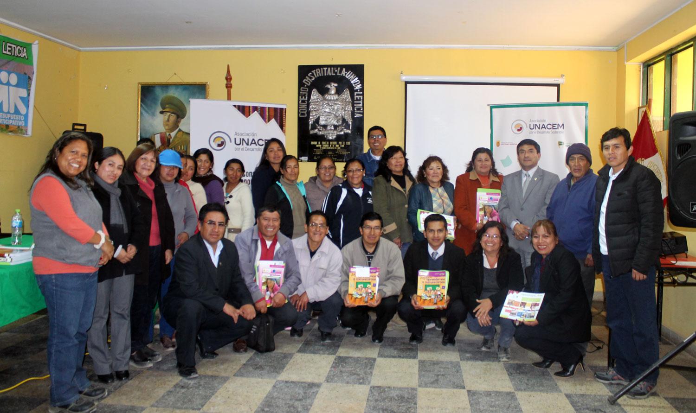 Asociación UNACEM y las Instituciones Educativas dan inicio al Programa Leer para Crecer en Tarma 2016