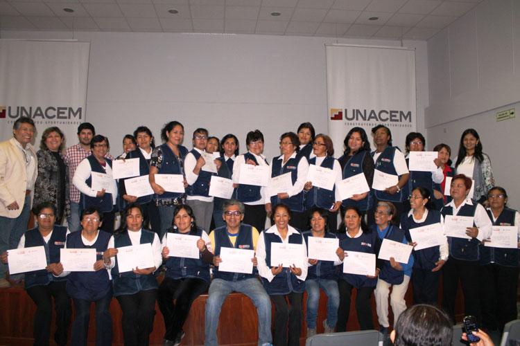Asociación UNACEM clausuró ciclo de capacitaciones de fortalecimiento institucional 2014