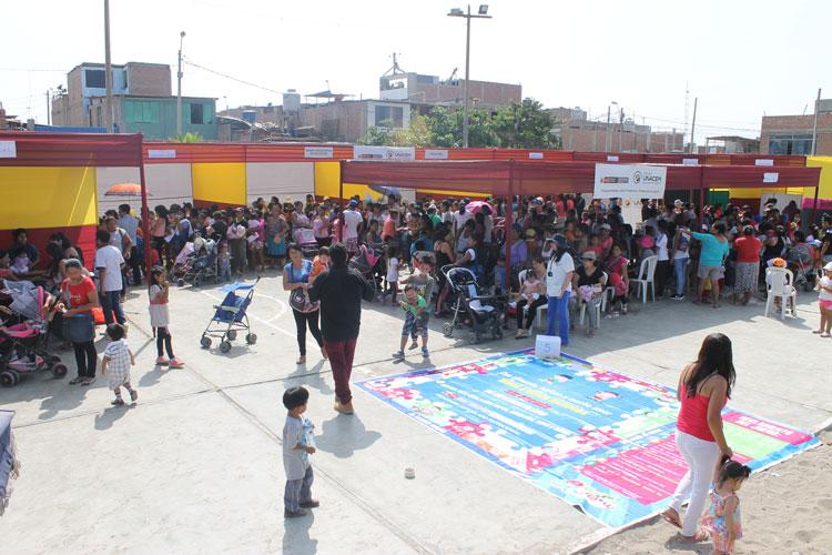 Más de 150 familias asistieron a la Feria de Salud del Niño y la Niña Villa el Salvador