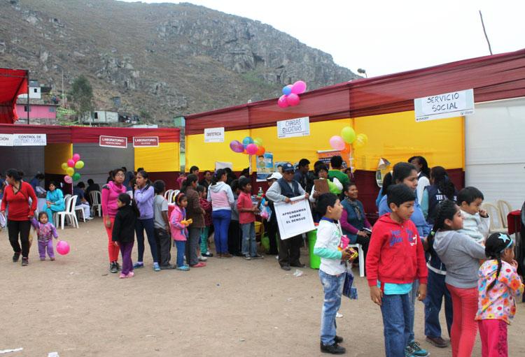 AA.HH. 15 de Noviembre celebró aniversario de manera saludable gracias a su junta directiva, el Centro Materno Infantil José Gálvez y Asociación UNACEM