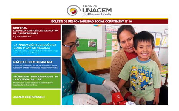 Boletín de Responsabilidad Social Corporativa No. 10 - Asociación UNACEM