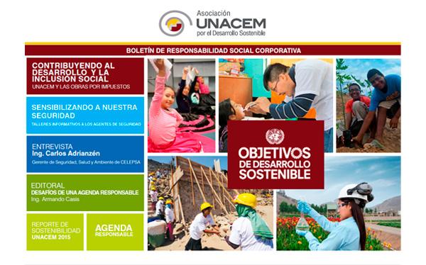 Boletín de Responsabilidad Social Corporativa No. 6 - Asociación UNACEM