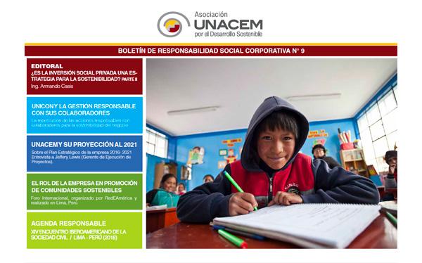Boletín de Responsabilidad Social Corporativa No. 9 - Asociación UNACEM