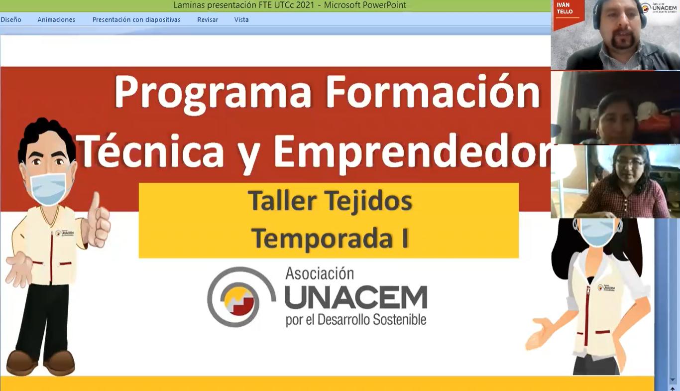 Iniciamos el taller de tejido en las sedes de Condorcocha, La Unión Leticia y Tarma - Asociación UNACEM