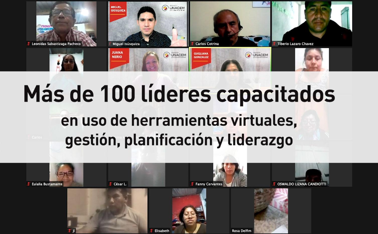Más de 100 líderes comunitarios son capacitados de manera virtual - Asociación UNACEM
