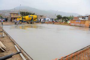 Construcción losa Villa Sol - Asociación UNACEM
